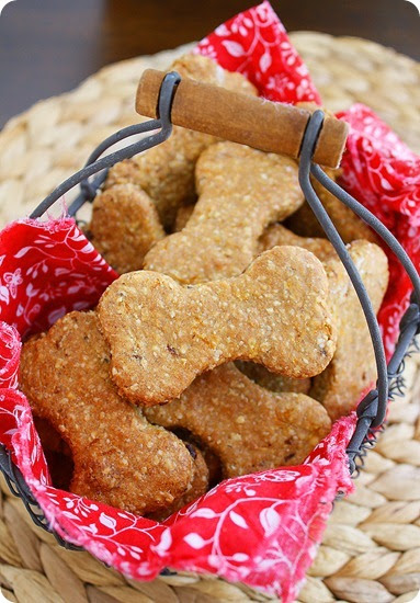Peanut butter bacon dog treats